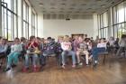 Schüler in der Aula zur Humboldtwoche 2009
