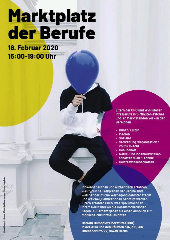Plakat Marktplatz der Berufe 2020