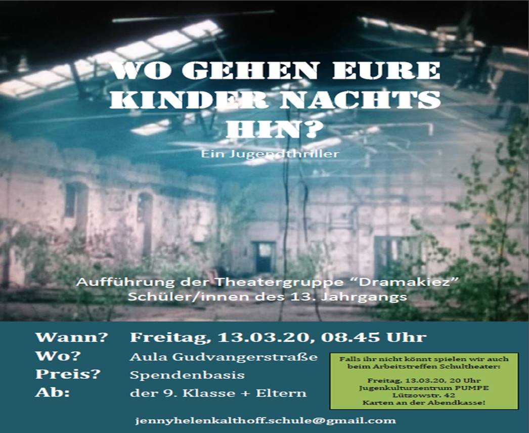 Plakat Theatergruppe Dramakiez 2020